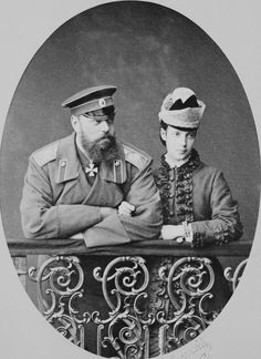 Sergey Levitsky - Alexander III, Emperor of Russia, when Tsesarevich and Maria Feodorovna, Empress of Russia, when Tsesarevna Familia Romanov, Maria Feodorovna, Royal Collection Trust, House Of Romanov, Empire, Tsar Nicholas Ii, The Empress, Imperial Russia, Blue Bloods