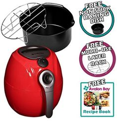 Avalon Bay Digital Air Fryer with Stainless Steel Basket, For Healthy Fried Food, 8 Presets, Quart Capacity, Best Air Fryer Review, Small Appliances, Kitchen Appliances, Best Air Fryers, Baking Set, Wine Fridge, Cook At Home, Kitchen Equipment, Healthy Lifestyle