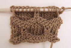 Apprendre à tricoter le point de la ruche