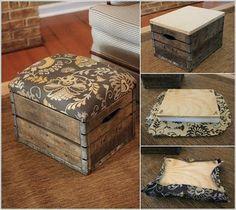 Reciclar, Reutilizar y Reducir : Maravillosos taburetes realizados con cajas