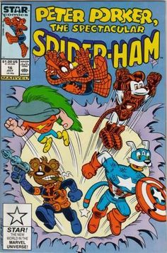"""Peter Porker, The Spectacular Spider-Ham #16 - """"Porker Fried Rice"""" or """"Chung King of the Road""""; Croak & Badger (Issue)"""