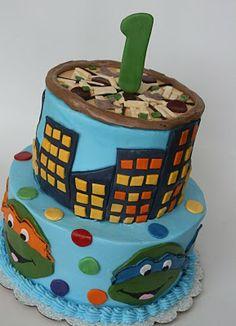 ninja turtle cakes   And Everything Sweet: Teenage Mutant Ninja Turtle Cake