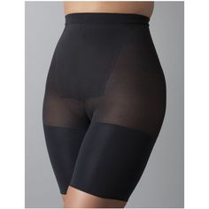 SPANX Plus Size Spanx? In-Power Line Super Power Panties, Women's,... ($32) ❤ liked on Polyvore featuring intimates, shapewear, black and plus size