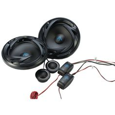 "Autotek Ats Series 6.5"" 300-watt Component Speaker System With Crossover @ $43.89"