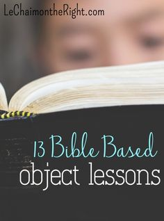 13 Bible Object Lessons - Sunday School Lessons   Le Chaim (on the right)