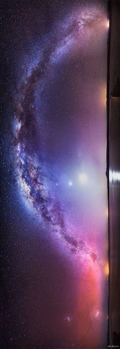 Панорама Млечного Пути Сделана на Севере Чили, в районе пустыни Атакама