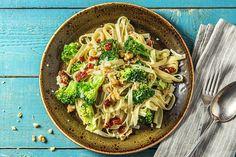 Quick & Easy: in 20 minuten van box naar bord Fusilli, Broccoli Pasta, Fresh Broccoli, Hello Fresh Recipes, Vegetarian Recipes, Healthy Recipes, Pizza, Vegan Dishes, Sauce