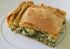 - Spinach pie - Category: Mediterranean Diet, Cretan Recipe. Serves: 6-8 , Preparation time: 1hr 45min, Level: Medium