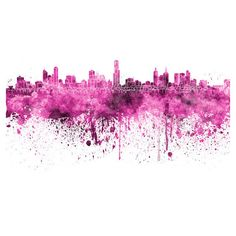 Melbourne skyline in watercolor on white,8 monochrome colors,and full... ($15) ❤ liked on Polyvore featuring home, home decor, wall art, backgrounds, art, white home accessories, white wall art, white home decor and white posters