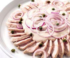 Truten-Tagliata mit Bohnensauce