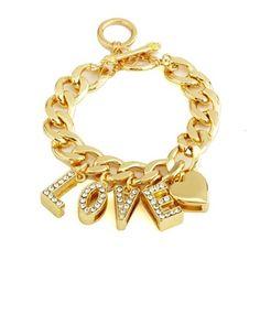 Chain Link Charm Bracelet: @   http://myworld.ebay.com/kikimalone13