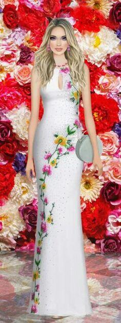 "Covet Fashion Game ""The Flora Room"" Challenge Styled by: MsGunnz ♕ DiamondB! Pinned ♕ #covetfashion"