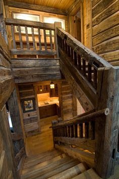 Inventive Staircase Design Tips for the Home – Voyage Afield Rustic Staircase, Staircase Design, Staircase Ideas, Staircase Landing, Staircase Runner, Staircase Remodel, Log Cabin Living, Log Cabin Homes, Barn Homes