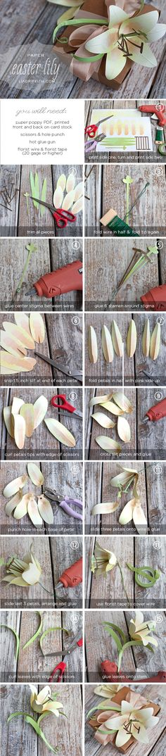 DIY Paper Easter Lily Tutorial