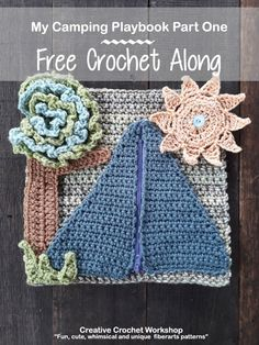 My Camping Playbook Part One | Free Crochet Pattern | Creative Crochet Workshop @creativecrochetworkshop #ccwcampingplaybookcal #freecrochetalong #crochetquietbook Crochet Books, Crochet Gifts, Diy Crochet, Crochet For Kids, Crochet Baby, Crochet Ideas, Quiet Book Patterns, Stuffed Toys Patterns, Crochet Accessories