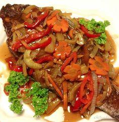 Fish Escabeche, Escabeche Recipe, Filipino Dishes, Filipino Recipes, Filipino Food, Pinoy Recipe, Fish Recipes, Seafood Recipes, Mama Recipe