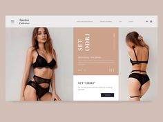 Animation slider for underwear store designed by Nadezda. Connect with them on Dribbble; Slider Design, Underwear Store, Store Design, Sliders, Bikinis, Swimwear, Animation, Flat, Fashion