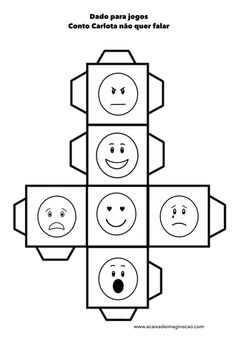Make an emotion dice. Throw it and talk about times when you have felt like this. Emotions Preschool, Teaching Emotions, Emotions Activities, Counseling Activities, Teaching Aids, Feelings And Emotions, Teaching Activities, Preschool Activities, Play Based Learning