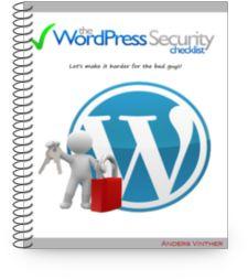 The WordPress Security Checklist