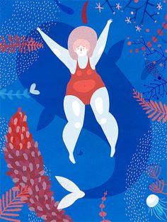 Pinzellades al món #francescasanna #swimmingillustration #whaleillustration