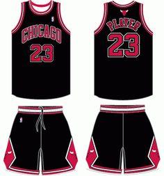2bf7769ed Chicago Bulls Alternate Uniform 2008- 2014 Basketball Uniforms