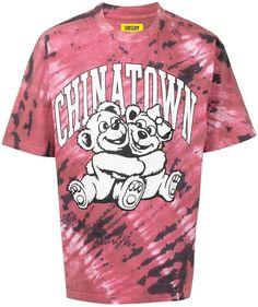 tie dye logo-print T-shirt
