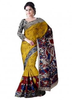 Yellow Cotton Kalamkari Saree & Blouse Product code: SHSA90K211 Retail price: 869/-  Sale price : 750/-