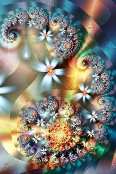 First Signs of Spring - Paisley Flower Fractal Art ~ the first fractals I have seen on Pinterest!