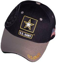 a1a775eb10d U.S. Army Veteran Hat Black and Gray Logo Baseball Cap Military Headwear