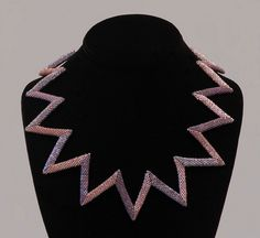 Zig-zag peyote necklace | Flickr - Photo Sharing!