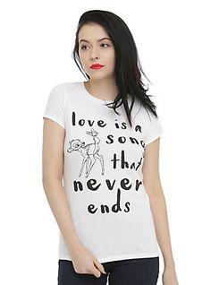 Disney Bambi Love Is A Song Girls T-Shirt, BLACK
