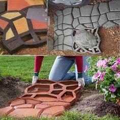 1 piece unique DIY plastic concrete paving molds for garden Concrete garden molds hand-make beautiful pathways
