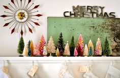these colored vintage trees are too cute!