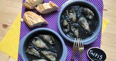 receta para preparar unos ricos calamares o chipirones en su tinta