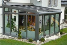 Pergola With Retractable Roof Garden Room Extensions, House Extensions, Outdoor Spaces, Outdoor Living, Outdoor Decor, Glass Extension, Glass Room, Marquise, Glass House