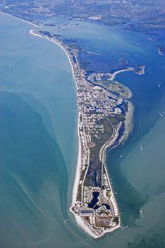 Gasparilla Island, Boca Grande Florida aerial view