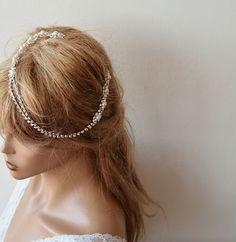 Bridal Hair Accessory Rhinestone and Pearl  headband by ADbrdal