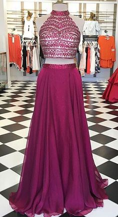 Women Dresses,Prom Dresses High Neck Long Two Pieces Prom Dresses For Teens,Handmade Beading Prom Gowns,Pretty Prom Dress,Princess Party Dresses Senior Prom Dresses, Homecoming Dresses Long, Pretty Prom Dresses, Princess Prom Dresses, Prom Dresses Two Piece, Simple Prom Dress, Prom Dresses For Teens, A Line Prom Dresses, Ball Gown Dresses