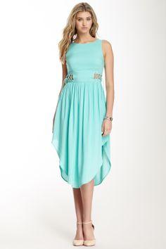 Sleeveless Lace-Up Detail Dress