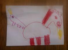 Ohnivý kůň, který má místo ocasu housenku, co plive oheň.