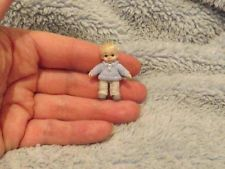 Miniature handmade MINI TOY BABY BOY DOLLY TINY ooak JOINTED ART DOLL DOLLHOUSE
