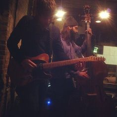 """@thequeenskickshaw's photo: """"Yes that is Aram sliding down the frets with a 16oz beer glass."""""""