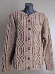 Cable Knitting Patterns - Diamond Cables Cardigan