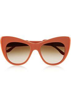 Stella McCartney Cat eye acetate sunglasses | THE OUTNET