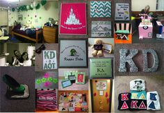 sororitycraft:  KΔBig/Little Reveal this year was basically a real-life version of my Pinterest board…couldn't be more obsessed/in love with my perfect little! This collage documents all of the things I made for her, her surprise room decorations, and big/little reveal, where we all popped out of boxes we decorated this year as seen on Tumblr…mine is a replica of the take-home boxes from our favorite cupcake place!   Keep Calm, Craft On, and Love in AOT <3K∆ <3