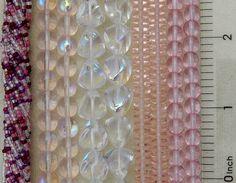 2000 Assorted Bulk Lot Czech Glass Pink Crystal Clear Rondelle Druk Trigon Beads #PreciosaOrnela #AssortedDarkPinkLightPinkCrystalAB