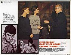 Elvis Presley, Mary Tyler Moore, Jane Elliot, and Regis Toomey in Change of Habit Barbara Mcnair, Change Of Habit, Mary Tyler Moore, Elvis Presley, Life, Usa, U.s. States