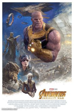 Avengers: Infinity War - Thanos and The Black Order by Paolo Rivera * Avengers Poster, The Avengers, Captain Marvel, Marvel Dc, Marvel Comics, Marvel Comic Universe, Marvel Cinematic Universe, Deadpool, Die Rächer