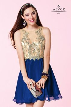 ALYCE PARIS SHORT 3646 DRESS Size 00 & 4  - This sparkling short sleeveless beaded party dress will make you the life of the party. This dress features beautifully beaded nude top and a colored chiffon skirt.  Colors: Cobalt, Mint Leaf, Rosewater, White Sizes: 000, 00, 0, 2, 4, 6, 8, 10, 12, 14, 16, 18, 20, 22, 24 $60 additional for sizes 20, 22, 24    - $298.00