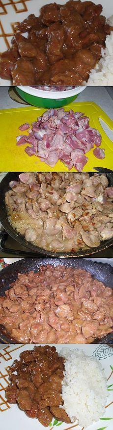 Вкусные куриные желудки, тушим с луком особым способом | Рецепты моей мамы